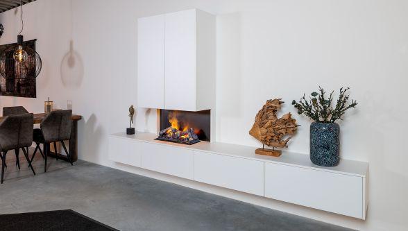Elektrische haard met tv-meubel