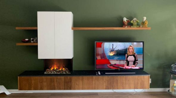 Elektrische Opti-Myst haard met meubel