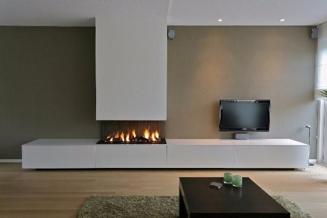 Vaak Tv meubel met elektrische haard &UE85