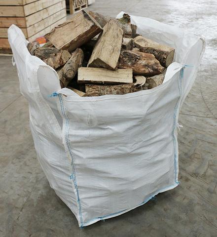 Bigbag met houtblokken
