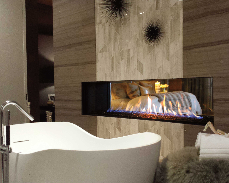 Slaapkamer Met Openhaard : Haard in de badkamer