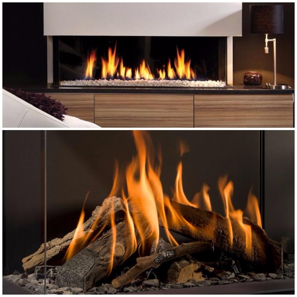 Branderdecoratie houtstammenset en kiezels