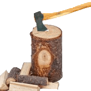 Hout kloven