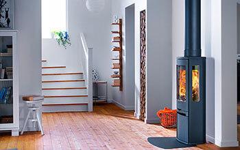 Scandinavische houtkachel